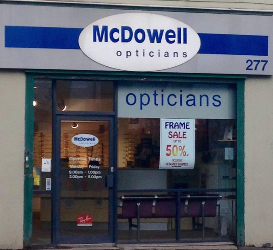 McDowell Opticians Belfast